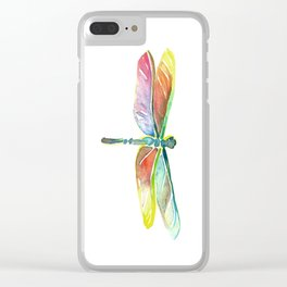 Dragonfly Fossil Clear iPhone Case