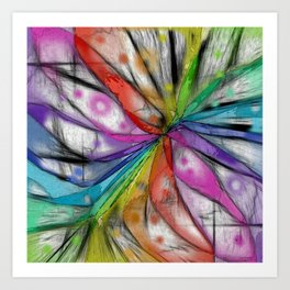 Kaleidoscope Dragonfly Art Print
