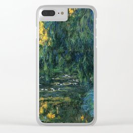 Claude Monet Dark Water  Lilies Clear iPhone Case