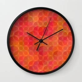 Stained Glass Sunrise Wall Clock