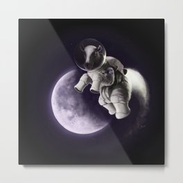 One Small Step for Bovine Metal Print