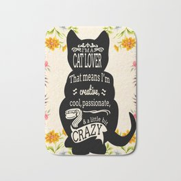 Crazy Cat Lover Typography Bath Mat