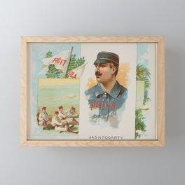 James H. Fogarty, Right Fielder, Philadelphia, from World's Champions, Second Series (N43) for Allen Framed Mini Art Print