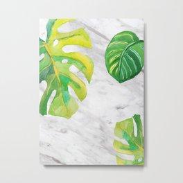 Tropical lush marble Metal Print