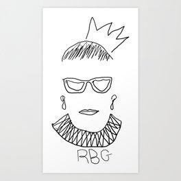 Ruth Bader Ginsburg Drawing Art Print