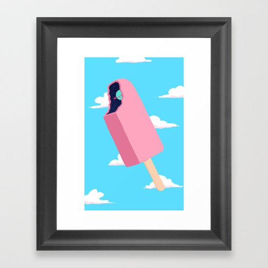 Creamsicle To Another Dimension...  Framed Art Print