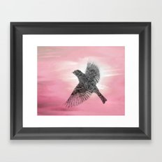 Pink And Lace Framed Art Print