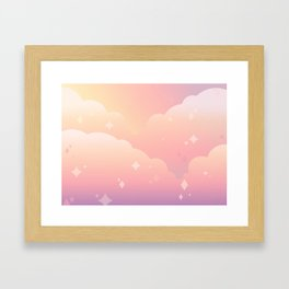 Lucy in the Kawaii with Diamonds Framed Art Print