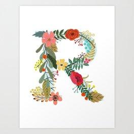 Monogram Letter R Art Print