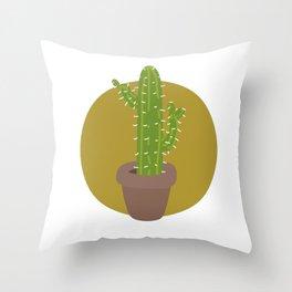 Simple Cactus Throw Pillow