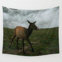 elk Wall Tapestries featuring Baby Elk by Andrea Jean Clausen - andreajeanco