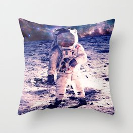 Spacewalk Nebula Throw Pillow