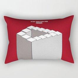 Lab No.4 -Stop Waiting For Friday Life Inspirational Quotes poster Rectangular Pillow