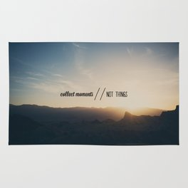 collect moments // not things Rug