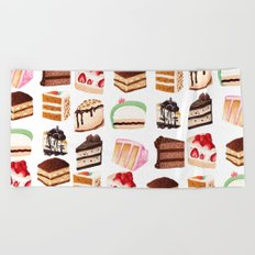 Yummy Cakes Beach Towel