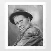 tom waits Art Prints featuring tom waits by dollface87