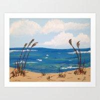Calm Beach Art Print