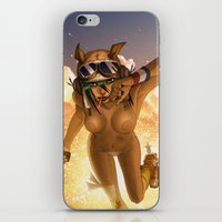 tank girl iPhone & iPod Skins featuring Tank by PeppebBox
