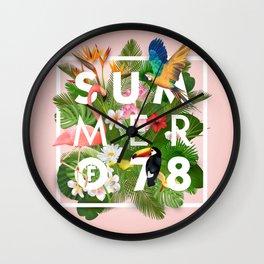 SUMMER of 78 Wall Clock