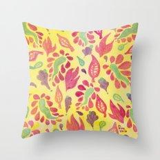 GrapeLeaves Throw Pillow