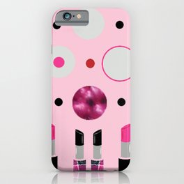 Polka Dots and Lipsticks iPhone Case