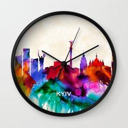 Kyiv Skyline Wall Clock