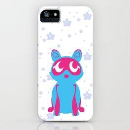Tanuki & Sakura (blue) iPhone Case