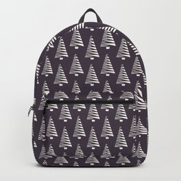 Hand drawn stylized Christmas tree pattern. Backpack