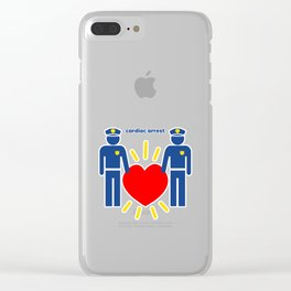 Cardiac Arrest Clear iPhone Case