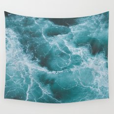 Electric Ocean Wall Tapestry