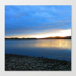 The blues of the evening Canvas Print