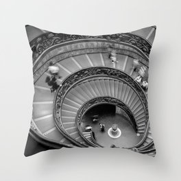 Down the spiral staircase Throw Pillow