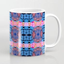 Vintage Modern African Fabric Print Cool Tones Coffee Mug