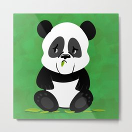 Sad Baby Panda (without Bamboo) Metal Print
