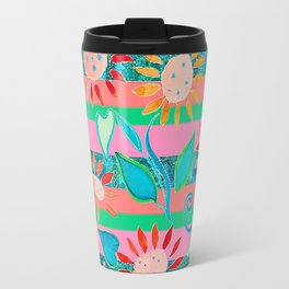 zakiaz flower stripe Travel Mug