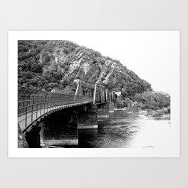 Harpers Ferry Railroad Bridge Art Print