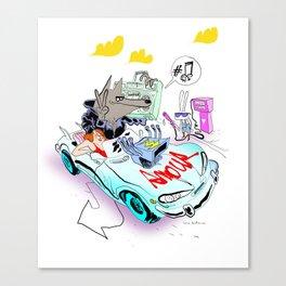 The Love Car Canvas Print