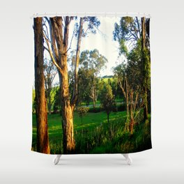Evening light, Country Farmlands Shower Curtain