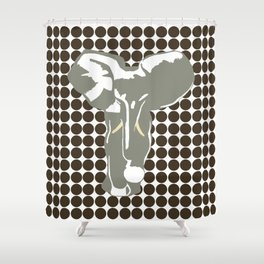 Cola Safari Dot with Pop Art Elephant Shower Curtain