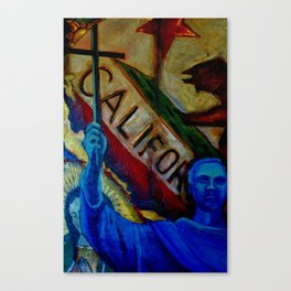 Father Serra and California Canvas Print