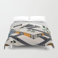 monster inc Duvet Covers featuring Monster Labs Inc. by Allen Amin