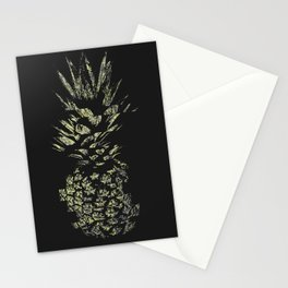 Pineapple with Glitch and Texture Stationery Cards