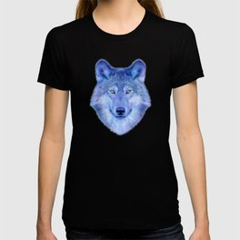 Sky blue wolf with Golden eyes T-shirt