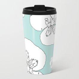 Green Pansies Travel Mug
