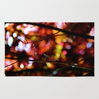 bokeh Area & Throw Rugs featuring Bokeh by KitKatDesigns