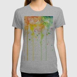 Rainbow Watercolor Pattern Texture T-shirt
