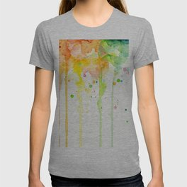 Rainbow Watercolor Pattern Texture T-shirt