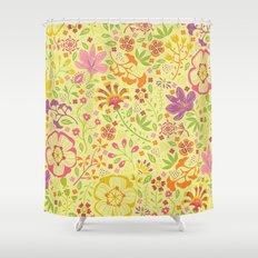 Oriental Blooms Shower Curtain