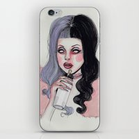 iPhone & iPod Skins featuring Melanie  by Lucas David
