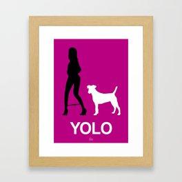 YOLO #1 Framed Art Print